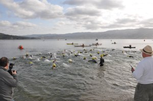 1/2 mile Swim begins at the triathlon